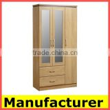 cheap wooden bedroom Wardrobe Closet/KD furniture material factory                                                                         Quality Choice