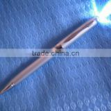 High quality metal LED torch light ballpoint pens with LED light on top best glow pens for promotional gift items