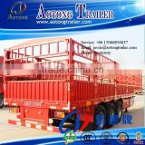 Semi trailer type and steel material 3 axle fencing animal transport semi trailer for sale