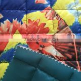 plaid printed quilted fabric,taffeta printed padding quilting fabric,quilted coat lining fabric