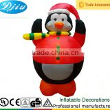 DJ-XT-71 inflatable fat penguin lighted christmas festival decoration cute gift