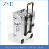Business Travelling Case With Wheels Trolley Aluminum Briefcase ZYD-LX121211