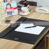 extraordinary office leather desk pad with printing logo
