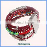 Wholesale Hot Sale Multilayer Brazilian Style Leather Magnetic Clasp Bracelets FHB-004B