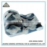 childen like whitt black grey warm fake fur blanket