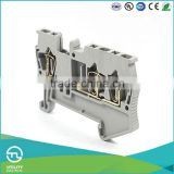 UTL Three Lead Through Type Wiring Spring Terminal Block Connector With Electronic Components For Weidmuller 0.14-2.5mm 17.5A