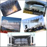 indoor/outdoor stage truss design for concert stage