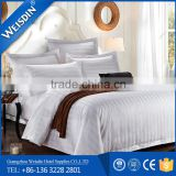 100% cotton embroidery designer white stripe bed covers made in China                                                                         Quality Choice