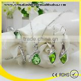 artificial imitation diamond jewelry set, gold jewelry sets