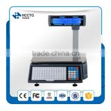 NEW! Chinese Electronic Weighing Scales With label barcode printer for supermarket--HLS1000
