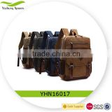 Newest Product Vintage Canvas Backpack Leather / School Bag/ Rucksack/ Outdoor Travel Backpack