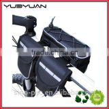 2015 Trendy Thick Polyester Waterproof Bycicle Carrier Bag Bicycle Pannier Rear Seat Bag
