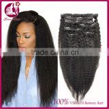 7A Clip In Human Hair Extensions Brazilian Virgin Italian Yaki Kinky Straight Clip In Hair Extensions Love Hair Products