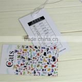 Cheap Wholesale Cardboard China hang tag for garment / jewelry tag / bracelet