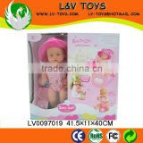 2013 Newest Fashion High quality Plush 16 Inch Solid toy doll With IC&Sound for baby play with EN71