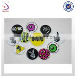 tinplate metal badge with Safety Pin, Various Patterns are Available, Perfect for Promotional Purposes