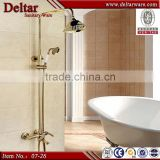 Factory sanitary ware Supplier, Brass Faucet with Bathroom Accessories, Single lever golden shower mixer