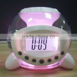 mult-function alarm calendar clock with led back light
