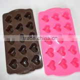 2016 Assorted Colors Heart Silicone Cake Mold ,Silicone Soap Chocolate Mould