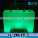 new fashion design plastic illuminated rechargeable bar furniture table,mini led electronic counter