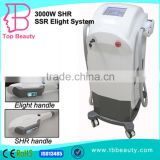 Touch Screen Home portable RF+IPL Professional Skin Lifting Hair Removal ipl shr e-light with 2 handle