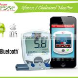 SIFGLUCO-3.1 Bluetooth Glucometer, Blood Glucose Meter, Smart Glucometer, High Quality , Easy Cholesterol /Glucose Meter