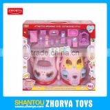 Zhorya battery opterated music and light up kids plastic villa toys my lovely model villa with furniture