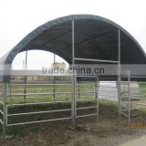 HDPE board hot dip galvanized or powder coated horse stable