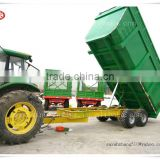 Truck Traile Use and CE Certification Farm Back Dump Trailer For Tractor