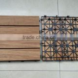 Outdoor decking Hard Solid Bamboo Flooring with plastic for swimming pool waterproof covering