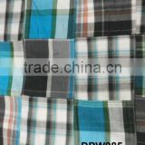 Madras Check Patchwork handmade pure fabrics For Cushion Cover
