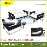 new design rattan sofa 4 pc Leisure aluminum frame outdoor furniture used garden sofa set