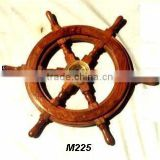 Sheesham Wood Ship Wheel with brass center