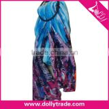 1.1*1.8M Wholesale Blue Women Pashmina Spring Scarf