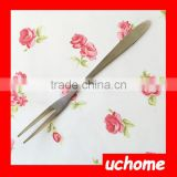 UCHOME New Fork Set!! Factory Manufacturing Stainless Steel Fruit Fork for Household/Hotel/Party