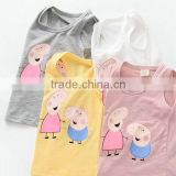 new latest baby kids cartoon sleeveless vest t-shirts
