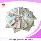 Fashion Cartoon Printed Weave Cloth Baby Printed Cotton Muslin Fabric Diapers