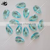 Flat back Tear Drop 17x28mm Lt aquamarine blue color Sew on Stone Acrylic Rhinestone for clothing shoes wedding dresses
