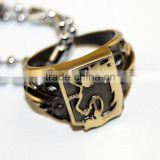 HOT!!!Anime Attack On Titan Rings Japan Anime Attack on Titan Metal Ring Necklace Pendant chains