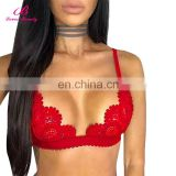 Big Discount Cleavage Wireless Crochet Sexy Bralette Lace Push Up Bra