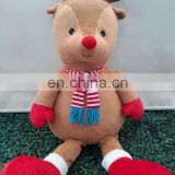 Custom Plush toy stuffed animal toy Chiristmas Deer cartoon characters