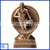 high quality resin trophy basketball player trophy