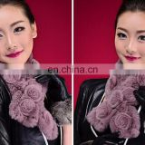 2014 New fashion high quality rabbit fur scarf for wholesale