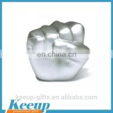2016 Wholesale Silver Fist Shape PU Stress Reliever For Promotional