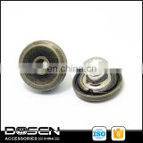 Fashion Bronze color Open hollow Metal Jeans Button, push button cap, for blue jean caps