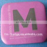 China factory Custom Company Logo cheap Tin Button Badge With Safety Pin for gift promotion , square tin button badge