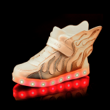 Hot sale flame design light up LED shoes