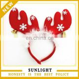 China Manufacturer Short Plush Red Free Size Lighted Christmas Headbands
