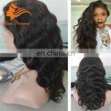 100 percent Indian remy human hair 180% density full lace wig natural color water wave Indian women hair wig