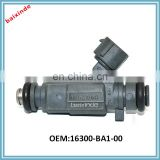 Auto spare parts car fuel injector nozzle OEM 16300-BA1-00 16300BA100 china wholesale